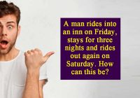A man rides into an inn on Friday
